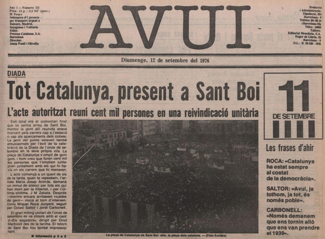 11 de setembre a Sant Boi